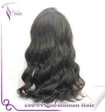 Wholesale Indian remy hair full lace wig /lace front wig 2015 cheap super wave