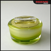 Green apple shaped acrylic jar, 15g 30g 50g skin care cosmetics packaging