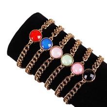 B326 2015 fashion trendy popular style semi-precious stone bracelet