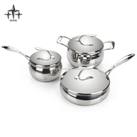 China Stainlesss steel non-stick cookware set/belly shape cookware/DX-A104