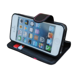Wallet stand holder card holder slot magnetic phone leather case for iphone6