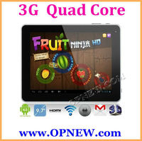"""Factory Wholesale 9.7"""" Build in 3G Tablet WCDMA Phone CALL Android 4.2 MID notebook PC Bluetooth 3G & 2G Phone OPNEW"""