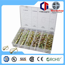 Universal Sizes 50pc Assorted Standard Lock Linch Pin Kit