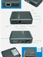 640*480 Pixel DLP Mini Projector Portable handy 1000:1 projector Support video decoding