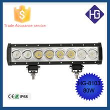 80 W 7200LM Led spot flood combo light 10w/pcs single row led light bar