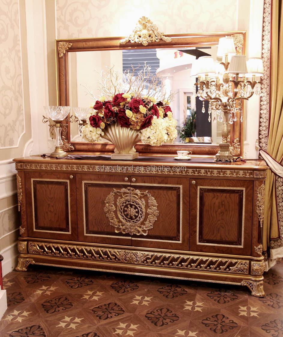 2 E62 buffet & mirror.JPG - 2015 0062 Senbetter Antique European Wooden Dining Room Furniture