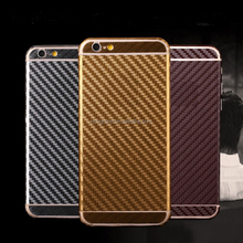 Carbon fiber sticker full body film screen protector wrap skin for iphone 4 5 6