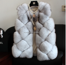 Fashion Genuine Blue Fox Fur Vest Women, Fur Vest, fur coat for women