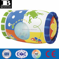 eco-friendly factory supply custom made baby toys inflatable cylinder inflatable baby step fun roller