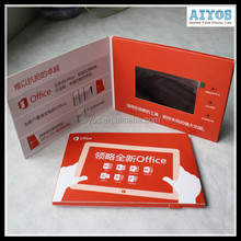Business Events Invitation Card High End Led Video Card OEM