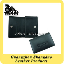 Custom Folding Genuine Leather Business Card Holder
