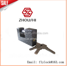 Black spray armored padlock rectangular padlock locks and key