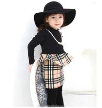 Bebê ladie favoritos crianças close-fitting vestido para o outono