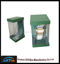 Wholesale plastic packaging gift box , paper watch boxes with clear pvc opening window