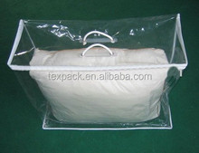 Small plastic bag with handles to storage pillow free samples