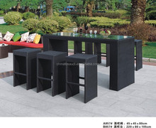large rattan outdoor furniture for 7 people