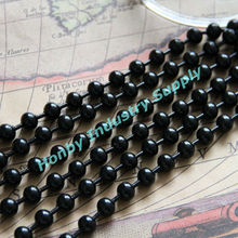 Plated Black Color 10mm Decorative Metal Beads Hotel Curtains