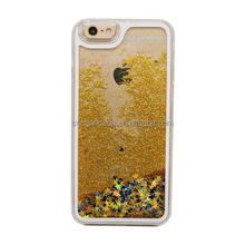 2015 hot sale 3D liquid quicksand with glitter shining stars PC phone case cover for iphone5s 6 and 6 plus CO-PC-3001