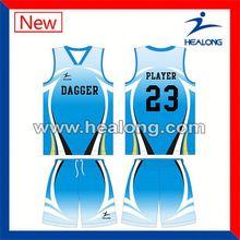 Healong Digital Printing Children Basketball Jersey Design 2012