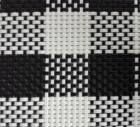 Black and white block pattern decorative carpet