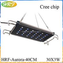 Ultra thin led aquarium light full spectrum Crechip LED aquarium light with remote controller 10000h par with above 98%