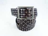 High Quality Genuine revit studded personalized customized engraved leather belt