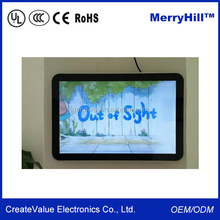 """Frameless In Wall LCD Advertising 10"""" 12"""" 15"""" 17"""" 19"""" 22"""" inch Media Player With VGA Output"""