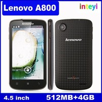 4.5 Inch Original Lenovo A800 phone MTK6577 Dual Core 1.2Ghz 512M+4G Dual SIM IPS 5MP Camera Android 4.0