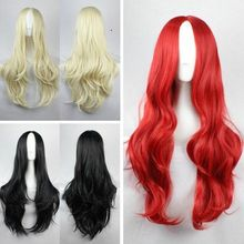 New Fashion Women's Wigs Full Long Bangs Curly Wavy Colorful Cosplay Party Wig W2115