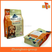 2015 new custom design rectangle bottom pouch with euro hole for dag feed