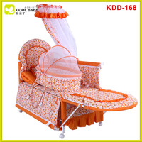 New en1888 luxury design travel system orange adult baby crib