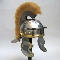 ARMOR HELMET ROMAN WITH PLUME AND ARMORY REPLICA GIFTS