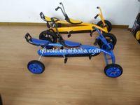 Two seat pedal car