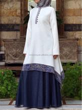 2015 Islamic clothing women's long sleeve A-line linen muslim tunic SYA15313