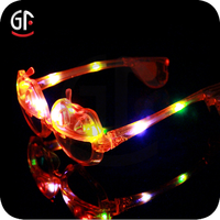 Christmas Decoration Cool Funny Pumpkin Shaped Plastic Led Eyeglasses For Kids