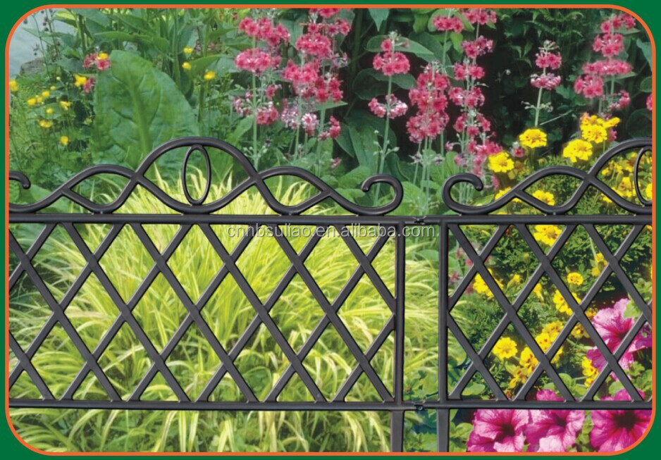 decorative garden fence small garden fence black garden