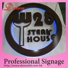 Outdoor Fancy Building Back-lit LED Stainless-Steel Paint Letter And Logo Sign