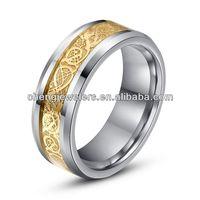 18k tungsten carbide ring dragon ring jewelry/gold dragon rings