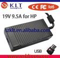 Venta al por mayor de reemplazo 180w fuente de alimentación para hp compa cuaderno 19v 9.5a