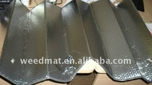 PE bubble with aluminum sunshades for front/back windows