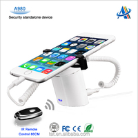 2015 new design display security product,smartphone security alarm stand with gripper A980
