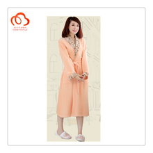 Ladies bathrobe in Orange color beautiful warehouse in stock
