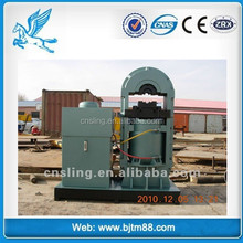 wire rope press machine making galvanized pressed 6x19 heavy duty wire rope sling, braided stainless 20mm steel