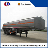 tri axle fuel tanker truck trailer / heated bitumen tank trailer
