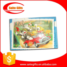 Promotional educational Paper Magnetic Puzzle with customized design