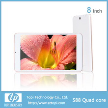 8 inch IPS screen quad core tablet pc with WIFI/FM/Bluetooth/GPS function