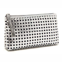 2015 latest fashion new design silver promotional leather fashion small cosmetic bags nordstrom