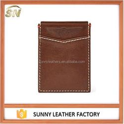 Mens Custom Slim Front Pocket ID Credit Card Holder Thin Magnetic Money Clip Minimalist Wallet