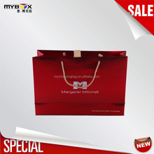 good quality price luxury red flash carrier recycle fashion ivory card paper bag