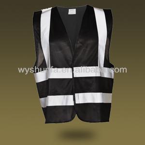 Black Safety Reflective Vest View Blue Safety Vest